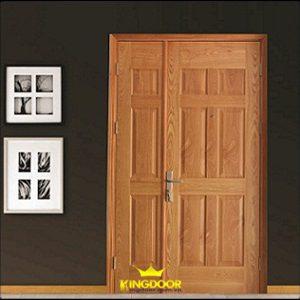 Cửa gỗ công nghiệp HDF Veneer - cánh đôi