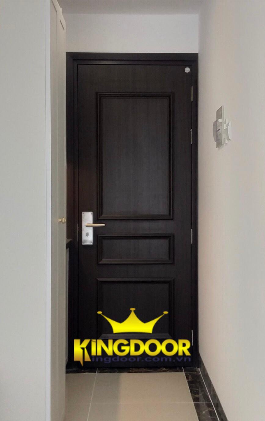 Mẫu cửa chạy chỉ nổi tân cổ điển chỉ có cửa nhựa Composite.
