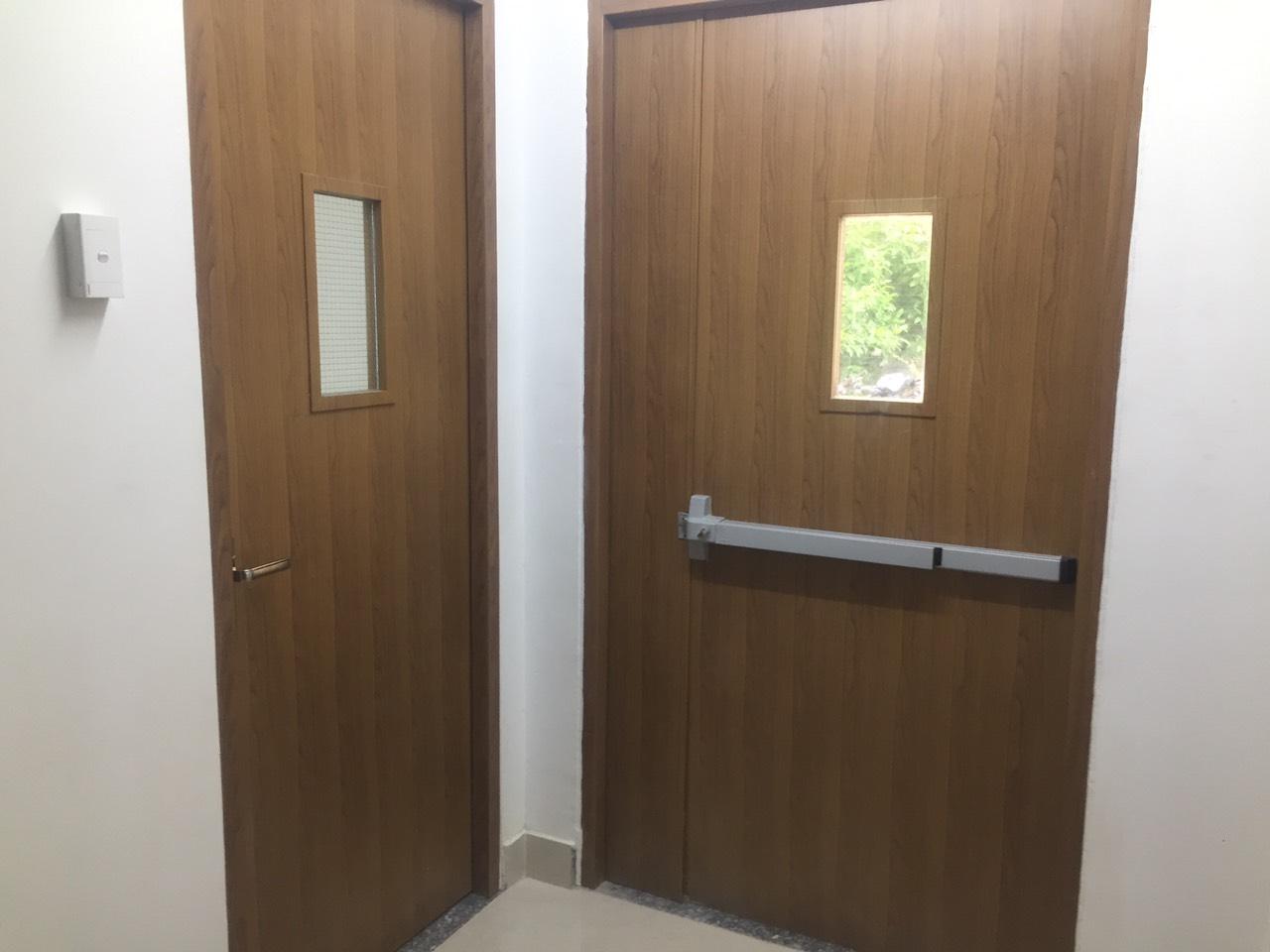 Mẫu cửa gỗ chống cháy - ván MDF Melamine của An Cường.