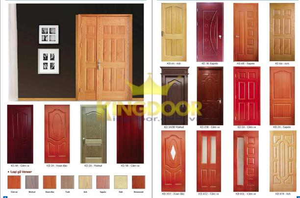Catogue mẫu cửa gỗ công nghiệp HDF Veneer.