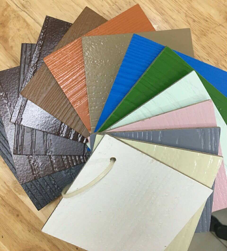 Bảng màu cửa gỗ công nghiệp HDF sơn.