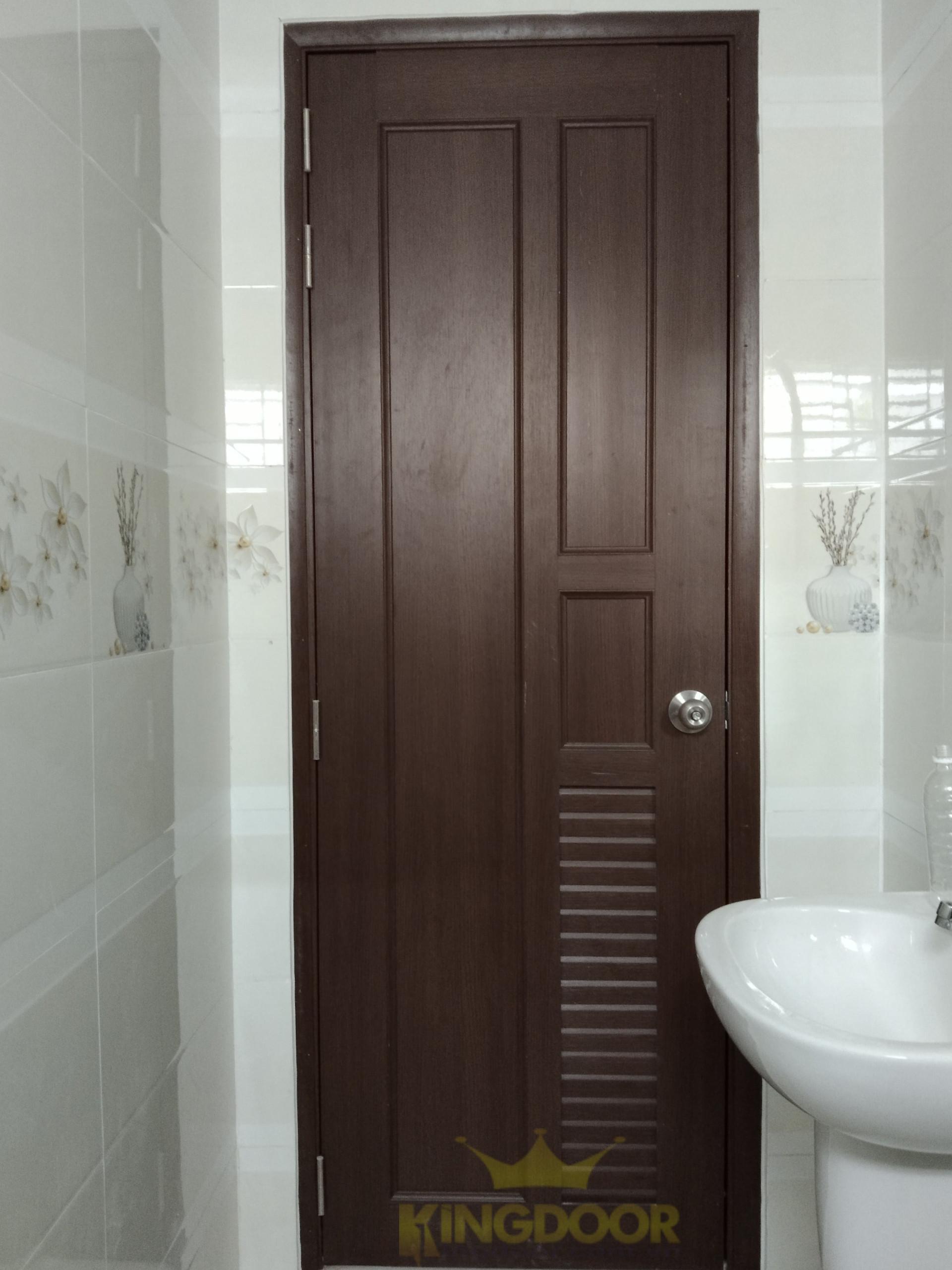 Mẫu cửa nhựa Đài Loan ghép thanh lắp đặt vị trí nhà vệ sinh.