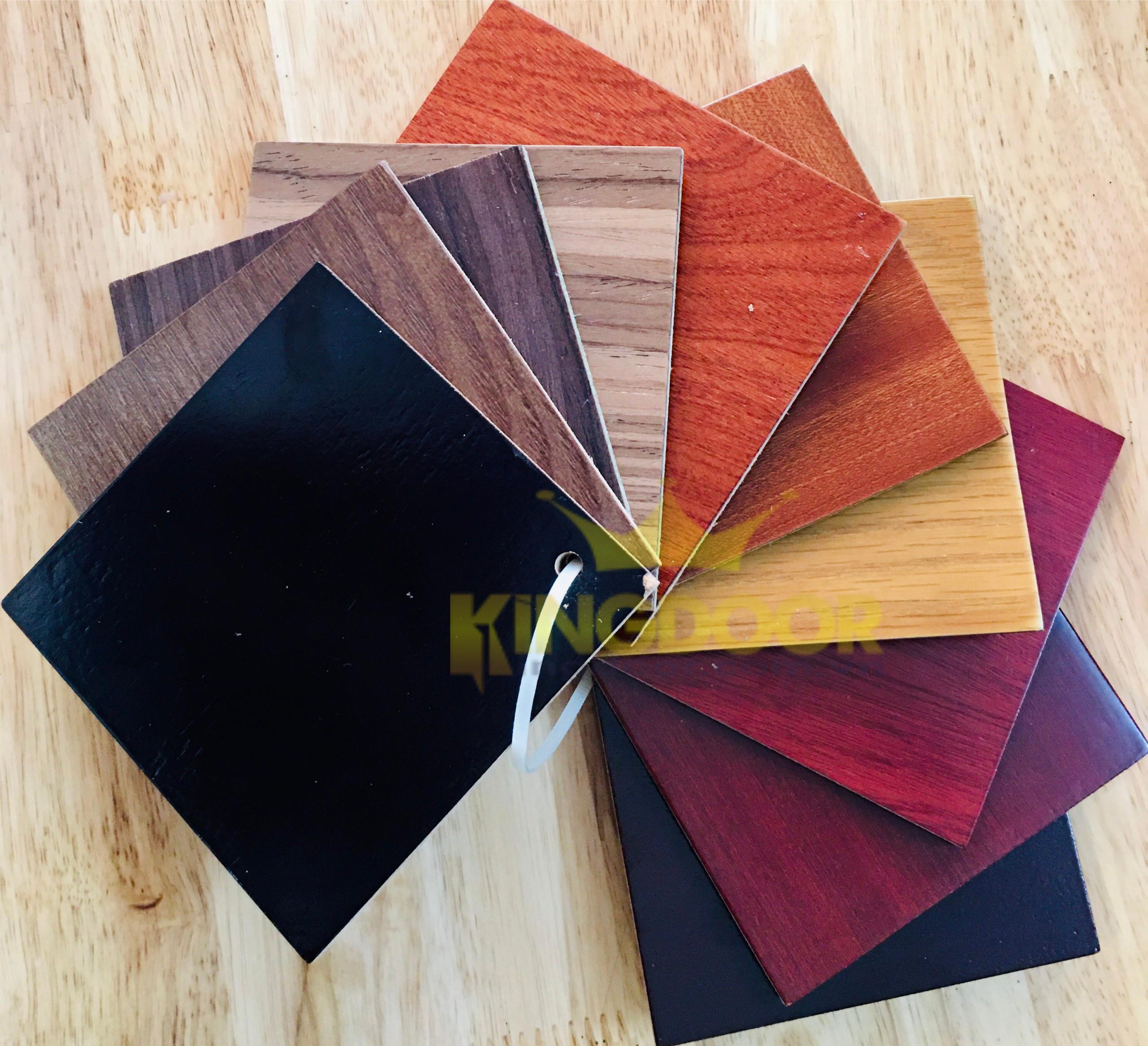 Bảng màu cửa gỗ HDF Veneer.