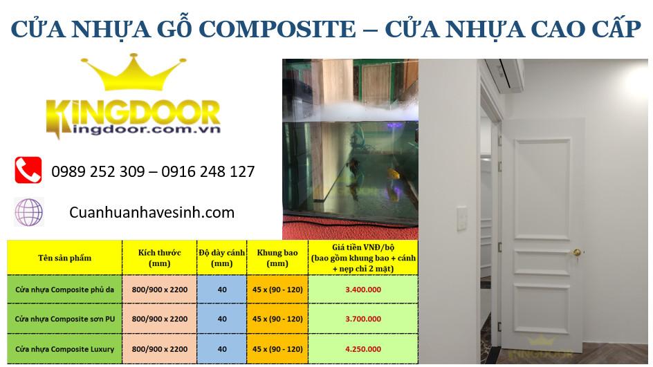 Giá cửa nhựa Composite cao cấp