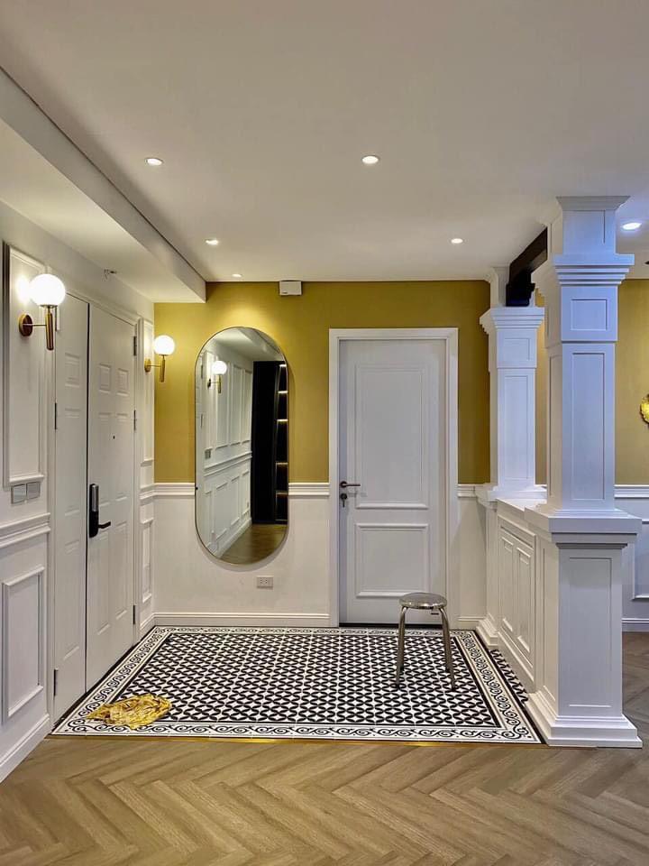 Mẫu cửa nhựa Composite sơn PU tân cổ điển.
